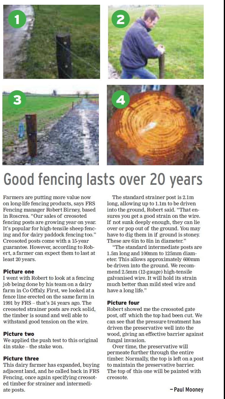 Good Fencing Lasts over 20 years